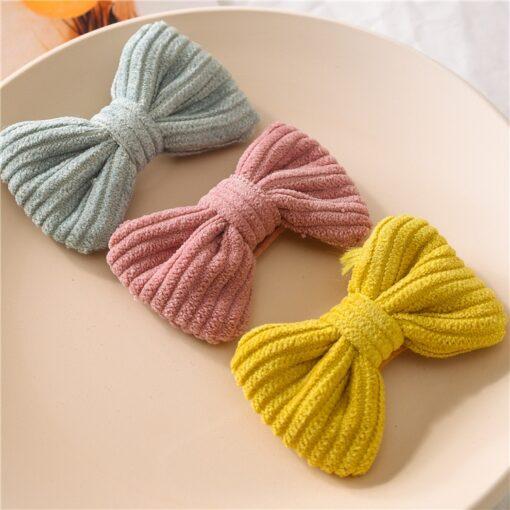 New Fashion Cute Sweet Candy Color Hairpin Baby Girl Bow Hiarclip Barrettes Headband Kids Headwear Hair