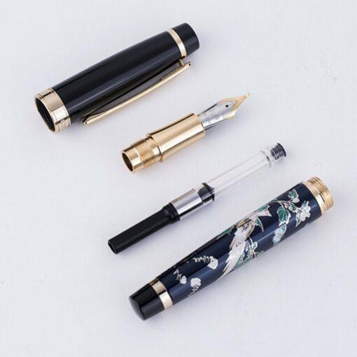 New HongDian Hand Drawing Fountain Pen Blue Magpie Nib 0 5MM Nib Fountain Pens Gift Office 3