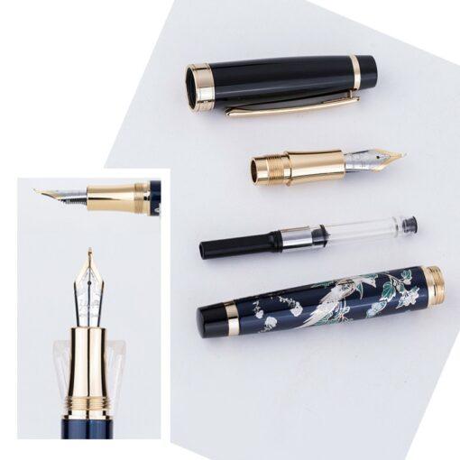 New HongDian Hand Drawing Fountain Pen Blue Magpie Nib 0 5MM Nib Fountain Pens Gift Office 4