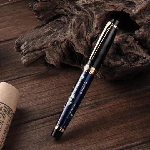 New HongDian Hand Drawing Fountain Pen Blue Magpie Nib 0 5MM Nib Fountain Pens Gift Office