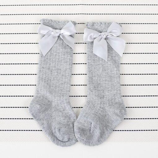 New Kids Socks Toddlers Girls Big Bow Knee High Long Soft Cotton Lace baby Socks Kids 1
