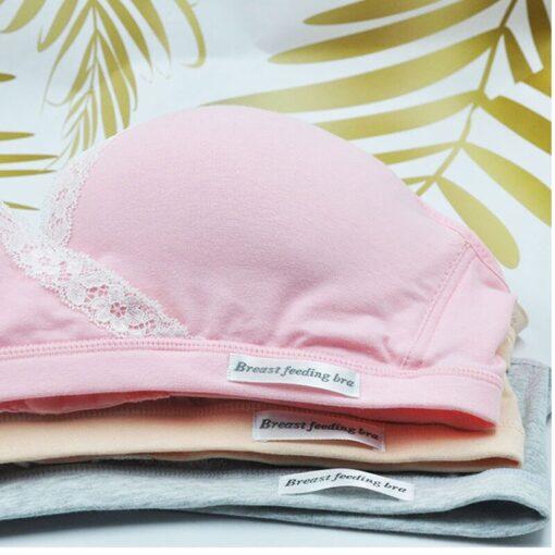 New Maternity Pregnancy Bras ropa mujer vetement femme Nursing Bra for Feeding Women Organic Cotton Breastfeeding 5