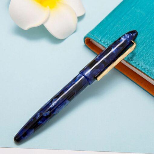 New Moonman Fountain Pen Acrylic Metal Transparent Gold Nib F 0 5mm Nib Fountain Pens Office 1