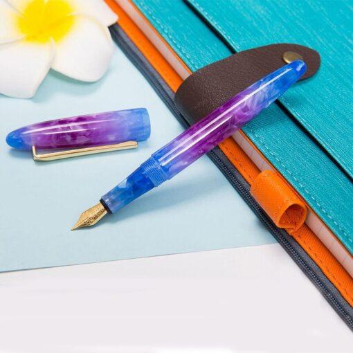 New Moonman Fountain Pen Acrylic Metal Transparent Gold Nib F 0 5mm Nib Fountain Pens Office 3