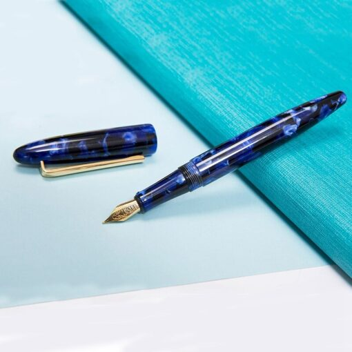 New Moonman Fountain Pen Acrylic Metal Transparent Gold Nib F 0 5mm Nib Fountain Pens Office 4