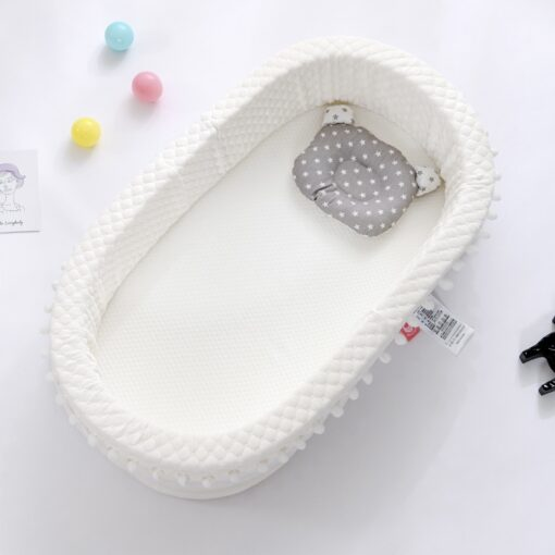 New Multi Function Baby Nest Bed For Boys Girls Portable Travel Bed Infant Cotton Cradle Crib 4
