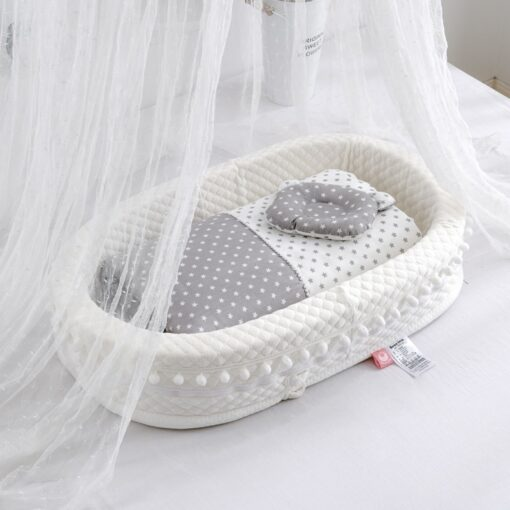 New Multi Function Baby Nest Bed For Boys Girls Portable Travel Bed Infant Cotton Cradle Crib