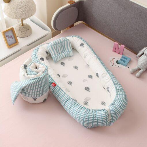 New Newborn Babynest Bed Portable Crib Travel Bed Tissu Coton Baby Nestje Baby Lounge Bassinet Bumper 1