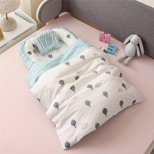 New Newborn Babynest Bed Portable Crib Travel Bed Tissu Coton Baby Nestje Baby Lounge Bassinet Bumper 3