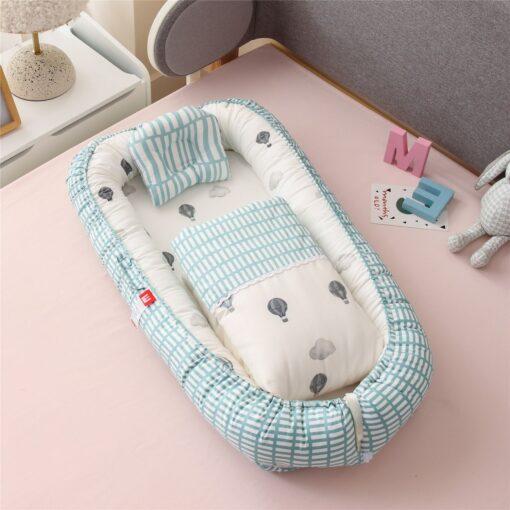 New Newborn Babynest Bed Portable Crib Travel Bed Tissu Coton Baby Nestje Baby Lounge Bassinet Bumper 5