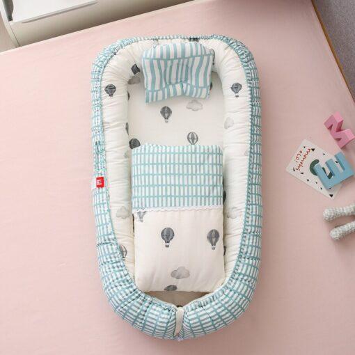 New Newborn Babynest Bed Portable Crib Travel Bed Tissu Coton Baby Nestje Baby Lounge Bassinet Bumper 6