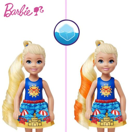 New Original Barbie Color Reveal Doll Surprise Discoloration Blind Box Chelsea With Accessories Toys Kid Girl 4
