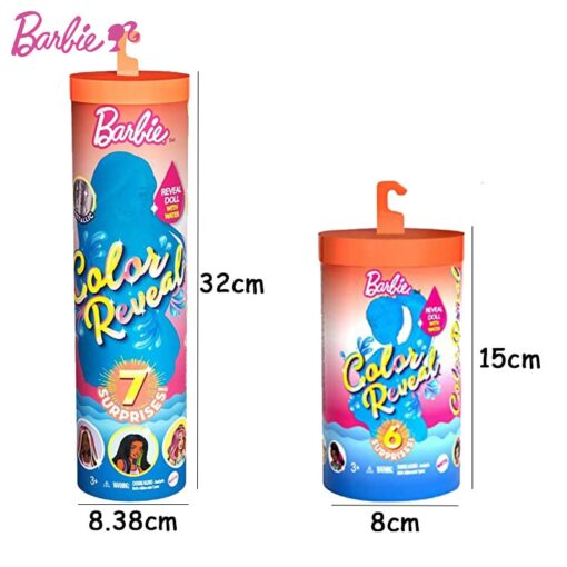 New Original Barbie Color Reveal Doll Surprise Discoloration Blind Box Chelsea With Accessories Toys Kid Girl 5