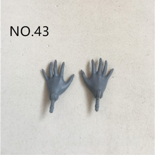 New Original Replacement Doll Hands Monstering High Doll Toy Parts Black Gray Yellow Blue Fishman Doll 3