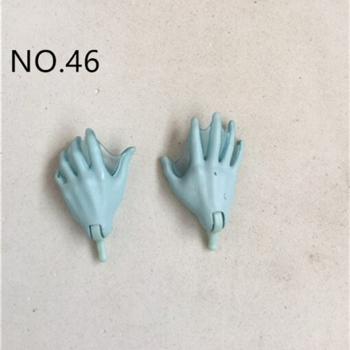 New Original Replacement Doll Hands Monstering High Doll Toy Parts Black Gray Yellow Blue Fishman Doll 4