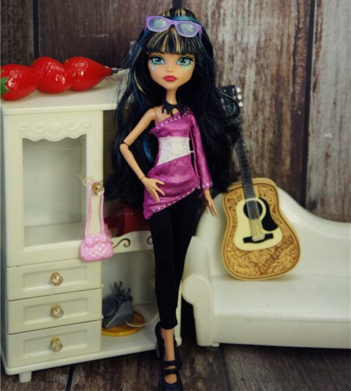 New Quality Monstering High Doll Dressing Soft Casual Wear Handmade Clothes Outfit Doll Clothing Set Girl 5