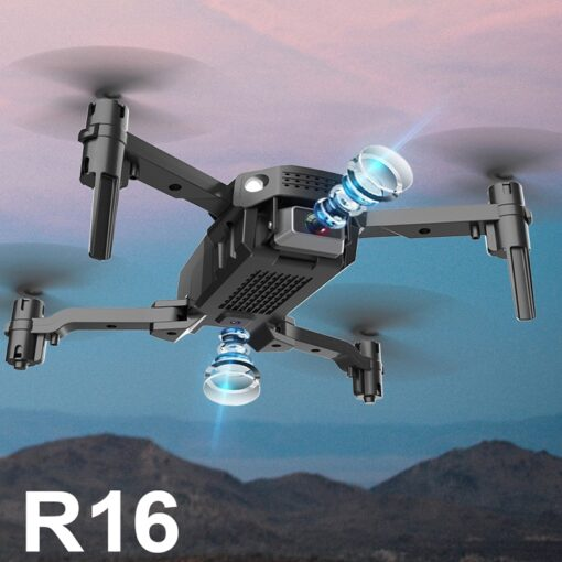 New R16 drone 4k HD dual lens mini drone WiFi 1080p real time transmission FPV drone 8