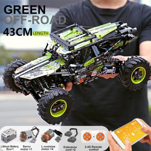New RC Buggy Technic Remote Control All Terrain Off Road Climbing Truck Car Fit MOC 19517 1