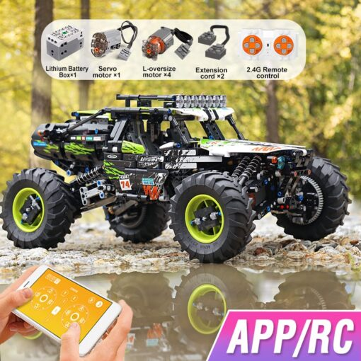 New RC Buggy Technic Remote Control All Terrain Off Road Climbing Truck Car Fit MOC 19517 2