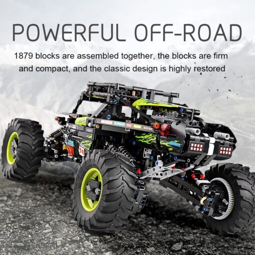 New RC Buggy Technic Remote Control All Terrain Off Road Climbing Truck Car Fit MOC 19517 3