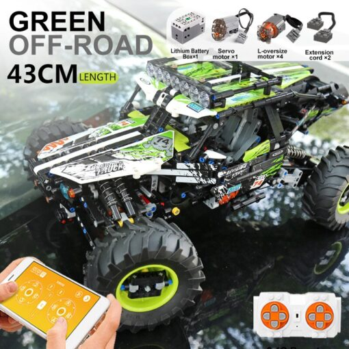 New RC Buggy Technic Remote Control All Terrain Off Road Climbing Truck Car Fit MOC 19517 4