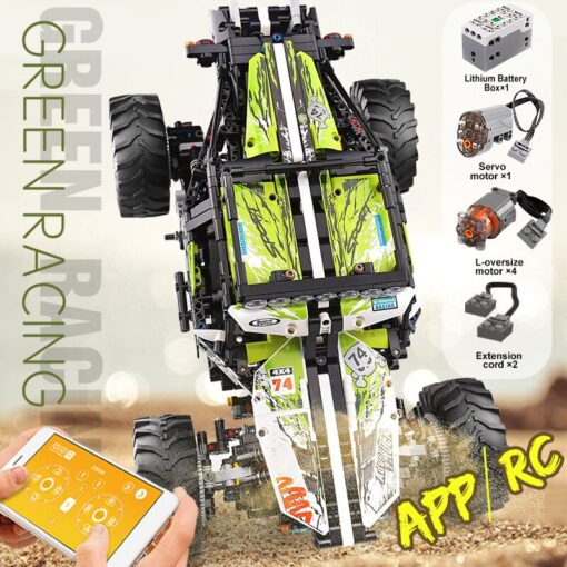 New RC Buggy Technic Remote Control All Terrain Off Road Climbing Truck Car Fit MOC 19517 5