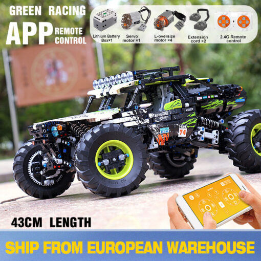 New RC Buggy Technic Remote Control All Terrain Off Road Climbing Truck Car Fit MOC 19517
