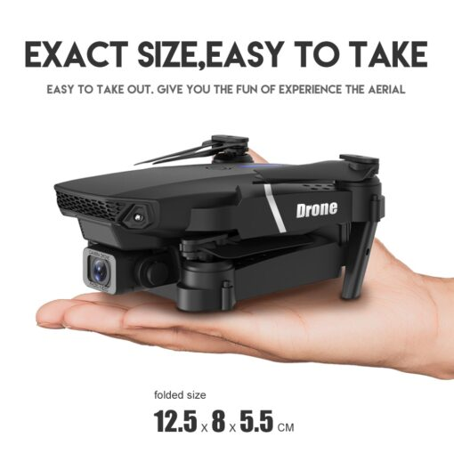 New RC Drone Quadrocopter with 4K Camera WIFI FPV Live Wide Angle HD Height Hold Dual 2