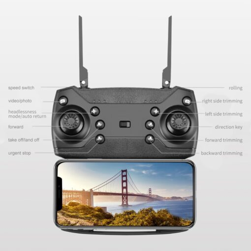 New RC Drone Quadrocopter with 4K Camera WIFI FPV Live Wide Angle HD Height Hold Dual 3
