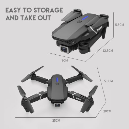 New RC Drone Quadrocopter with 4K Camera WIFI FPV Live Wide Angle HD Height Hold Dual 5