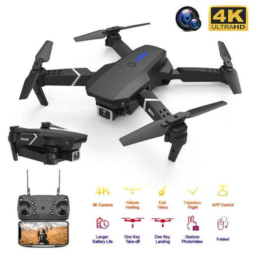 New RC Drone Quadrocopter with 4K Camera WIFI FPV Live Wide Angle HD Height Hold Dual