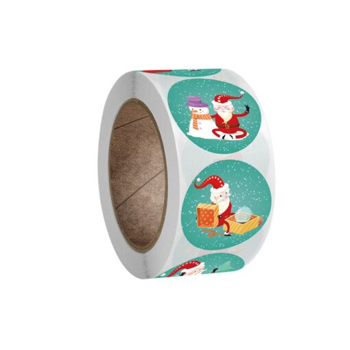 New Roll Pack Sticker Christmas Holiday Decorating Gift 1 Roll Festive Party Atmosphere Decorations Happy New 1