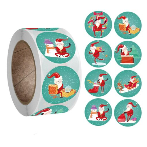 New Roll Pack Sticker Christmas Holiday Decorating Gift 1 Roll Festive Party Atmosphere Decorations Happy New