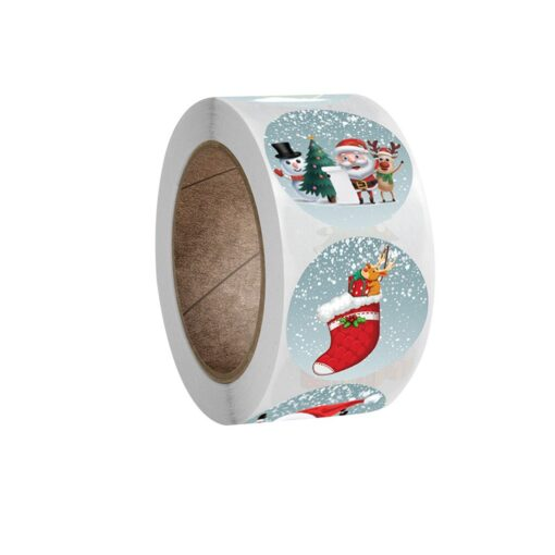 New Roll Pack Sticker Christmas Holiday Gift Decorating Gift 1 Roll School Office Supplies Diy Scrapbooking 1