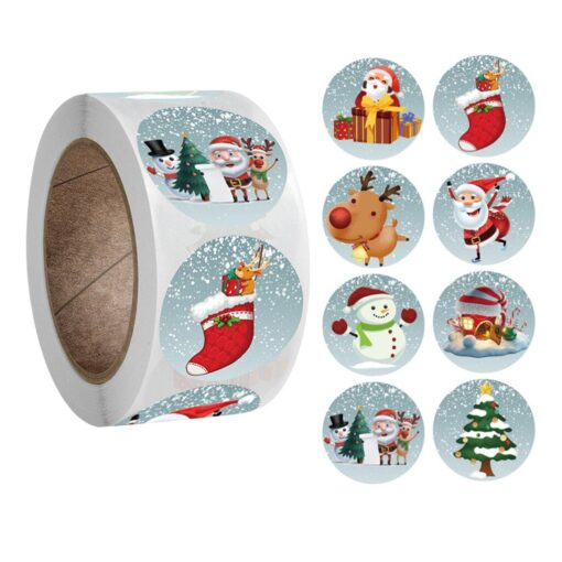 New Roll Pack Sticker Christmas Holiday Gift Decorating Gift 1 Roll School Office Supplies Diy Scrapbooking