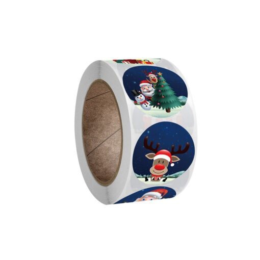 New Roll Pack Sticker Christmas Holiday Gift Decorating Gift 1 Roll School Office Supplies Diy Stickers 1