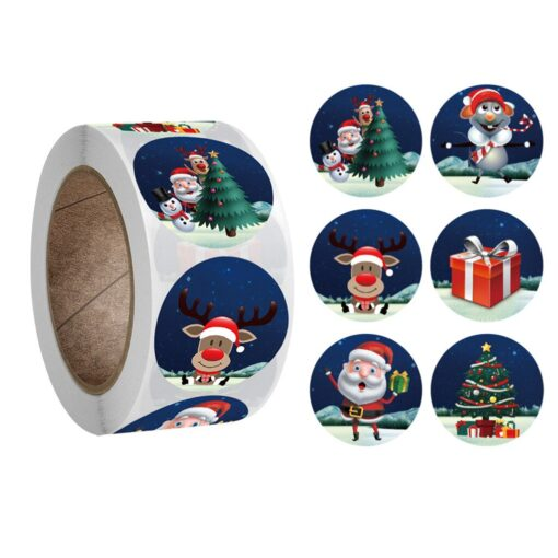 New Roll Pack Sticker Christmas Holiday Gift Decorating Gift 1 Roll School Office Supplies Diy Stickers
