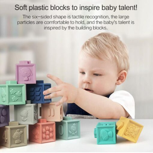 New Soft Rubber 3D Blocks Toy Ever Changing Building Blocks DIY Jigsaw Cute Baby Enlightenment Insert 1