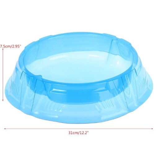 New Spinning Tops Stadium Battle Attack Top Plate Transparent Blue Combat Arena For Beylad 5