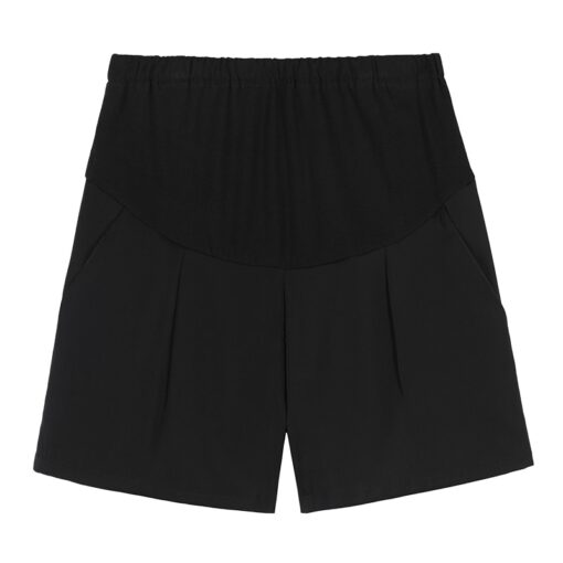 New Summer Wide Leg Spot Pleated Chiffon Loose Maternity Shorts Summer Sweet Hot Shorts for Pregnant 3