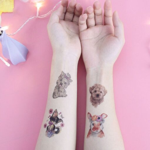 New Waterproof Children s Animal Tattoo Stickers Environmental Fun Cartoon Stickers Face Stickers Removable Tattoo Environmental 1