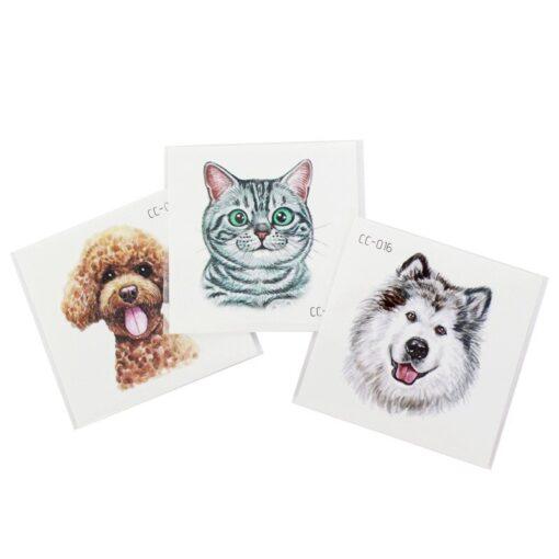 New Waterproof Children s Animal Tattoo Stickers Environmental Fun Cartoon Stickers Face Stickers Removable Tattoo Environmental 2