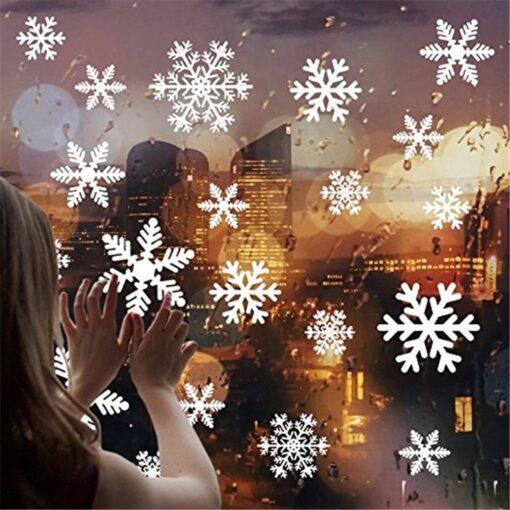 New Year wallpaper New Christmas Snowflake Window Sticker Wall Sticker Door Sticker snowflake electrostatic Sticker Window 12