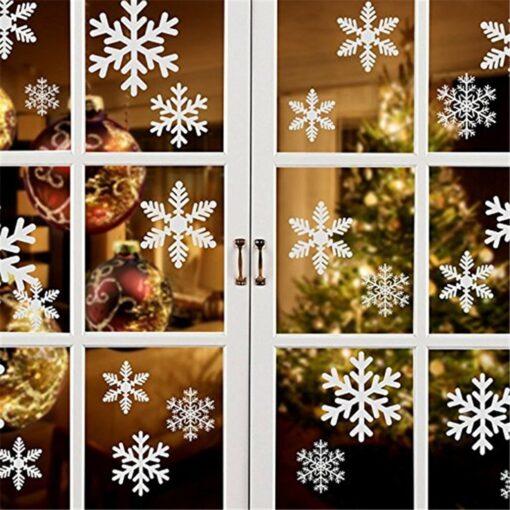New Year wallpaper New Christmas Snowflake Window Sticker Wall Sticker Door Sticker snowflake electrostatic Sticker Window 13
