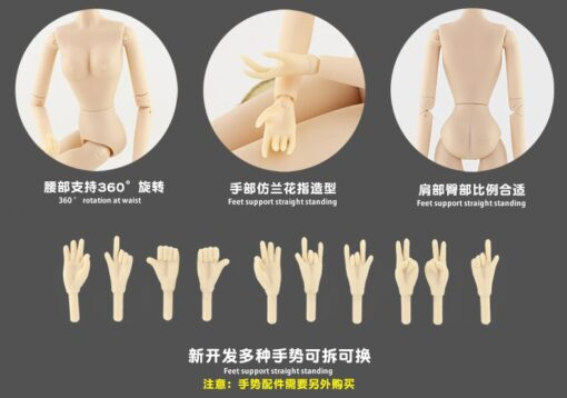 New arrival 30cm doll body 28 joints moveable emale body ball joints naked body girl toys 4