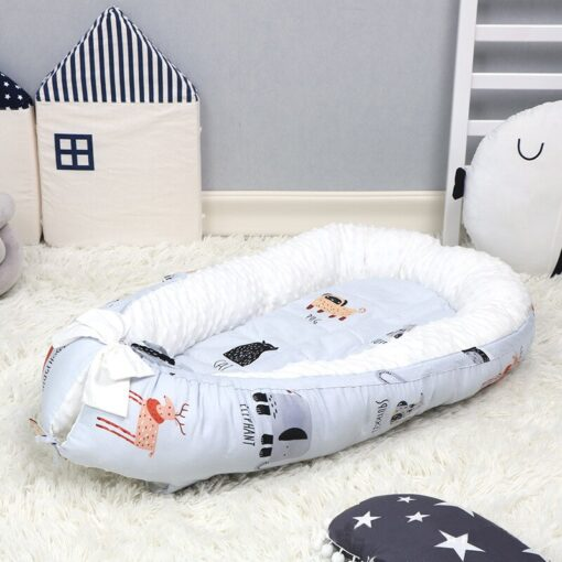 Newborn Baby Bed Baby Nest Bed Portable Crib Infant Toddler Cotton Travel Bed Cradle for Newborn 3