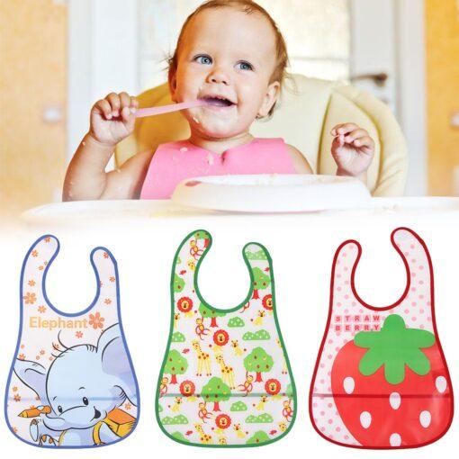 Newborn Baby Bib Waterproof Lunch Feeding Bibs Baby Cute Cartoon Feeding Cloth Towels Children Long Sleeve 1