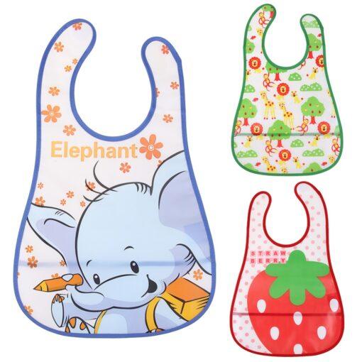 Newborn Baby Bib Waterproof Lunch Feeding Bibs Baby Cute Cartoon Feeding Cloth Towels Children Long Sleeve
