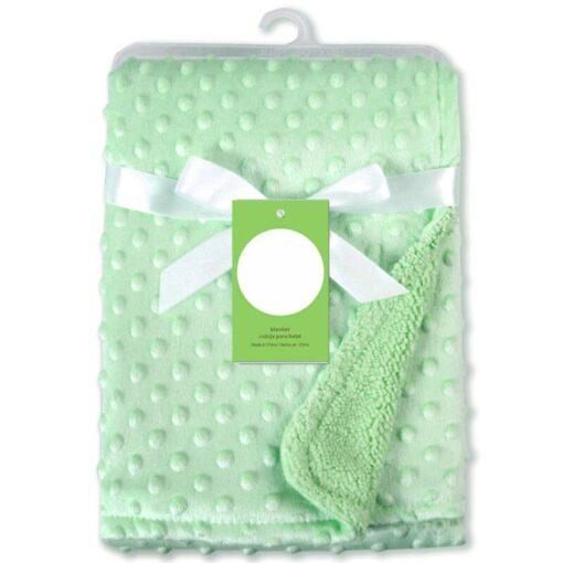Newborn Baby Blankets Warm Fleece Thermal Soft Stroller Sleep Cover Cartoon Beanie Infant Bedding Swaddle Wrap 16
