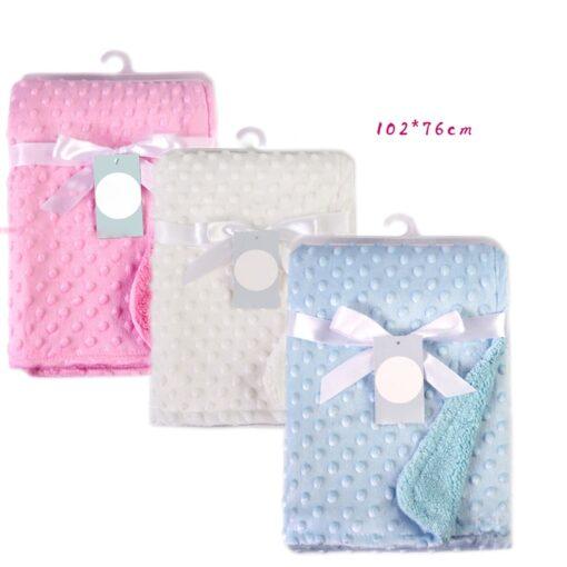 Newborn Baby Blankets Warm Fleece Thermal Soft Stroller Sleep Cover Cartoon Beanie Infant Bedding Swaddle Wrap 6